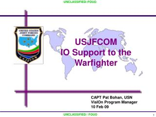 USJFCOM  IO Support to the Warfighter
