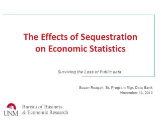 The Effects of Sequestration on Economic Statistics