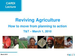 Reviving Agriculture
