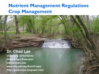 Nutrient Management Regulations Crop Management
