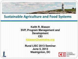 Sustainable Agriculture and Food Systems