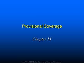 Provisional Coverage