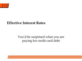 Effective Interest Rates