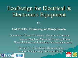EcoDesign for Electrical & Electronics Equipment