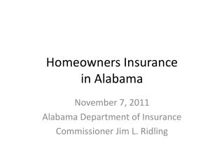 Homeowners Insurance  in Alabama