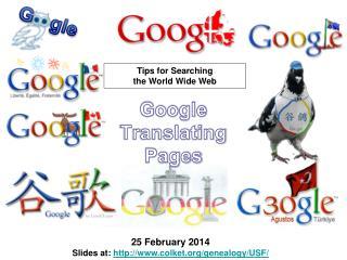 Google Translating Pages