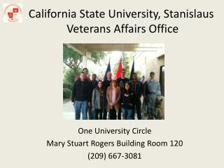 California State University, Stanislaus Veterans Affairs Office