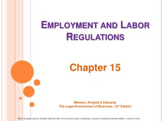 Employment and  Labor Regulations