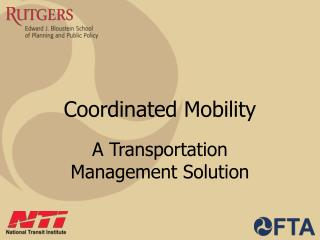 Coordinated Mobility