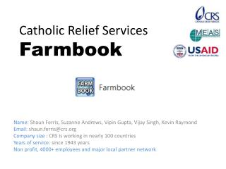 Catholic Relief Services  Farmbook