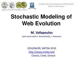 Stochastic Modeling of Web Evolution