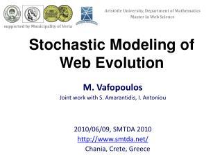 Stochastic Modeling of Web Evolution