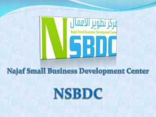 Najaf Small Business Development Center NSBDC