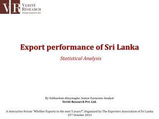 Export performance of Sri Lanka