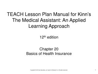 Chapter 20 Basics of Health Insurance