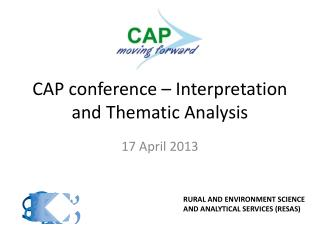 CAP conference – Interpretation and Thematic Analysis