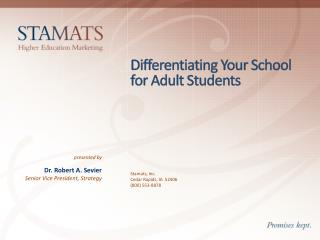 Differentiating Your School for Adult Students