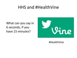HHS and # HealthVine