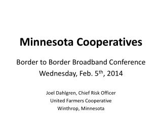 Minnesota Cooperatives