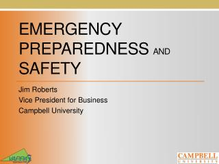 emergency Preparedness  and  Safety