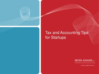 Tax and Accounting Tips for Startups
