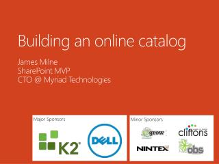 Building an online  catalog