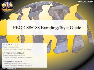 PEO CS&CSS Branding/Style Guide