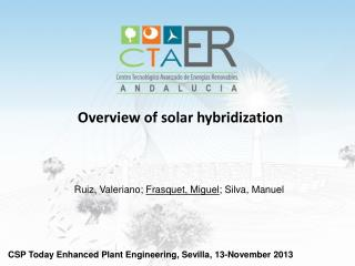Overview  of solar  hybridization