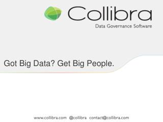 Got Big Data? Get Big People.