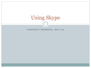 Using Skype