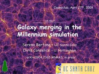 Galaxy merging in the Millennium simulation