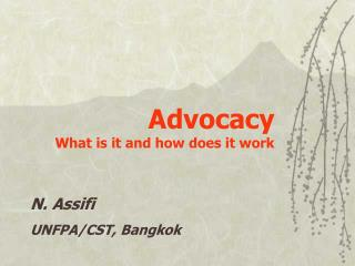 Advocacy What is it and how does it work
