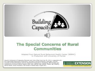The Special Concerns of Rural Communities
