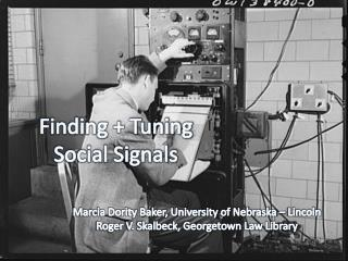 Finding + Tuning Social Signals