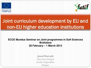Joint curriculum development by EU and non-EU higher education institutions