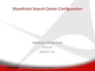 SharePoint Search Center Configuration