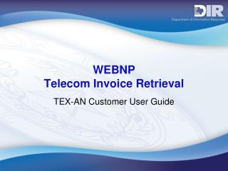 WEBNP  Telecom Invoice Retrieval