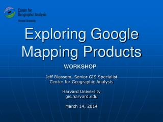 Exploring Google Mapping Products