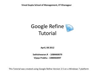 Google Refine Tutorial