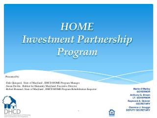 HOME Investment Partnership Program