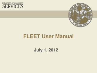 FLEET User Manual