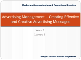 Advertising Management – Creating Effective and Creative Advertising Messages