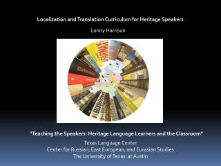 Localization and Translation Curriculum for Heritage Speakers
