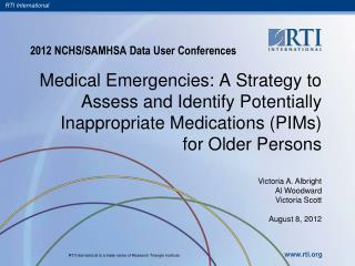 2012 NCHS/SAMHSA Data User Conferences