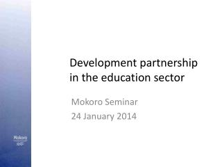 Development partnership in the education sector