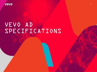 VEVO AD SPECIFICATIONS