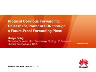 Protocol Oblivious Forwarding:  Unleash the Power of SDN through a Future-Proof Forwarding Plane