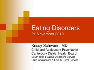 Eating Disorders 21 November 2013