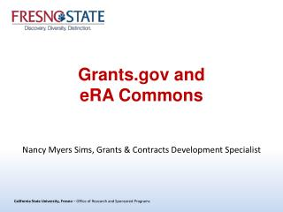 Grants.gov and eRA Commons