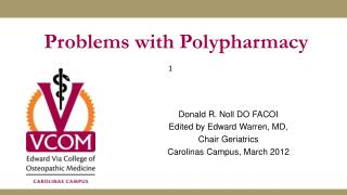 Problems with Polypharmacy